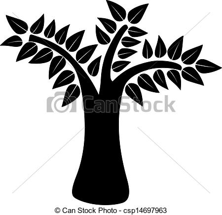 450x436 Tree Silhouette. Natural Tree Concept Isolated Background . Clip