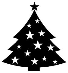 226x243 Christmas Tree Silhouette Clip Art