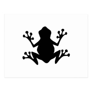 307x307 Tree Frog Silhouette Cards