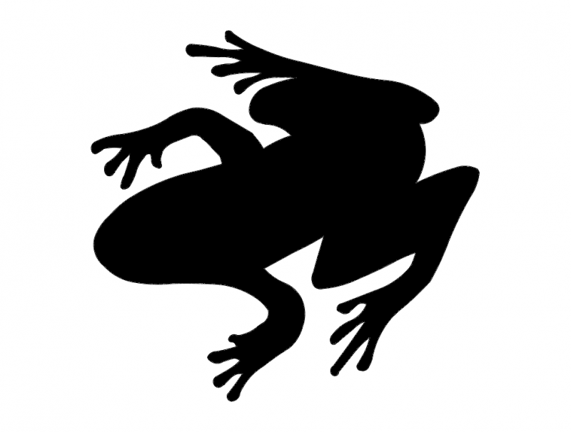 800x606 Zaba (Frog Silhouette) Dxf File Free Download