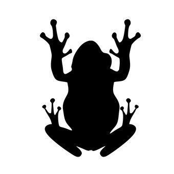 340x340 Free Silhouette Vector Frog, An Illustration