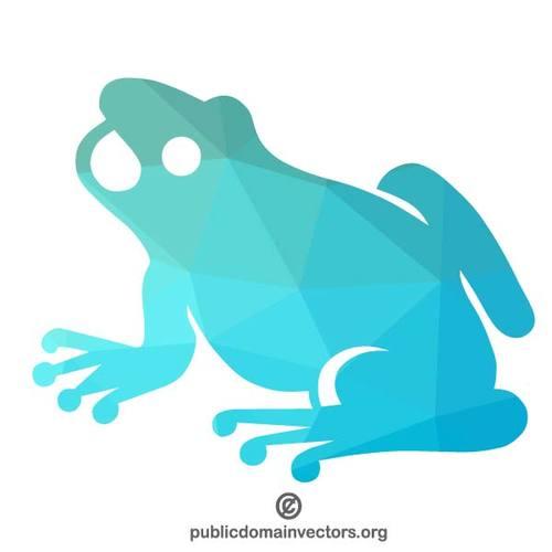 500x500 Frog Colored Silhouette Public Domain Vectors