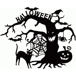 300x300 Pin By Barbara West On Halloween Silhouettes