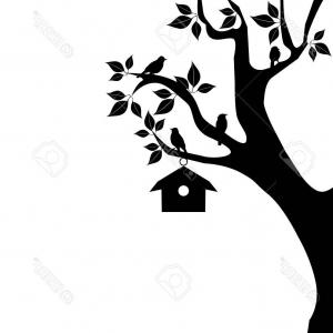 300x300 Stock Illustration Silhouette Set Collection Hanging Houses