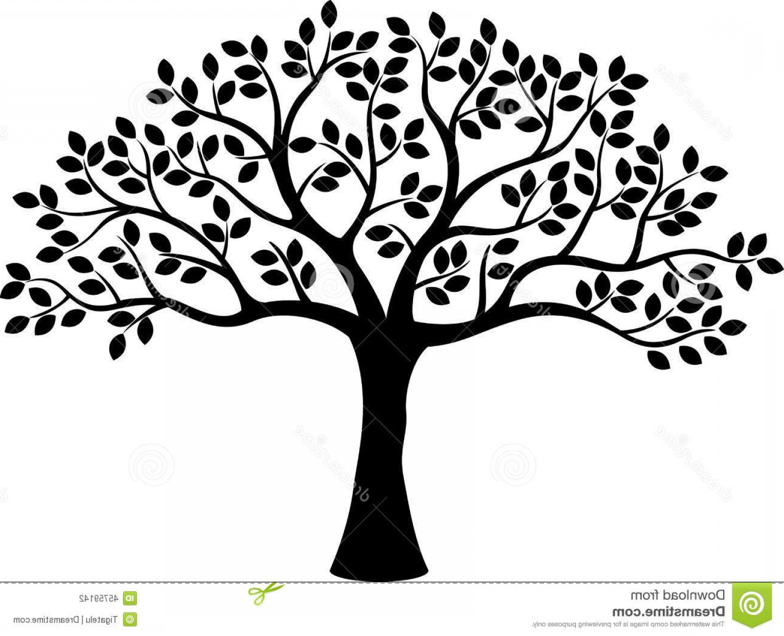 1560x1266 Stock Illustration Tree Silhouette Cartoon Illustration Image