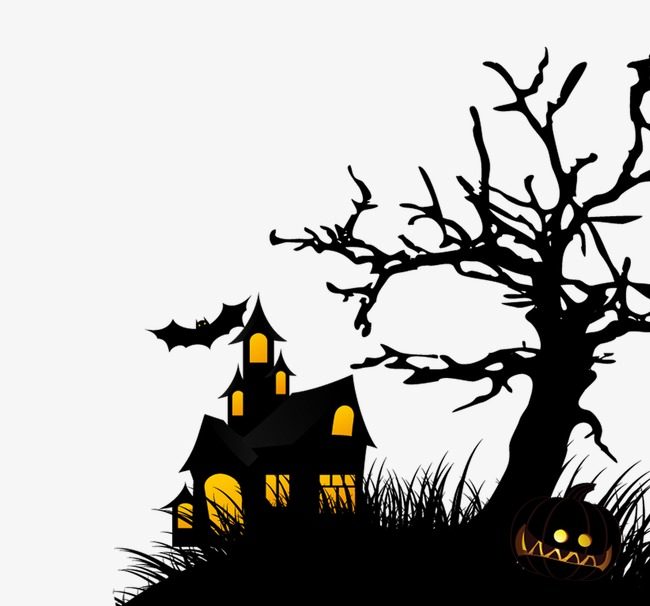 650x606 Black Devil House, Halloween, Devil House, Withered Png Image