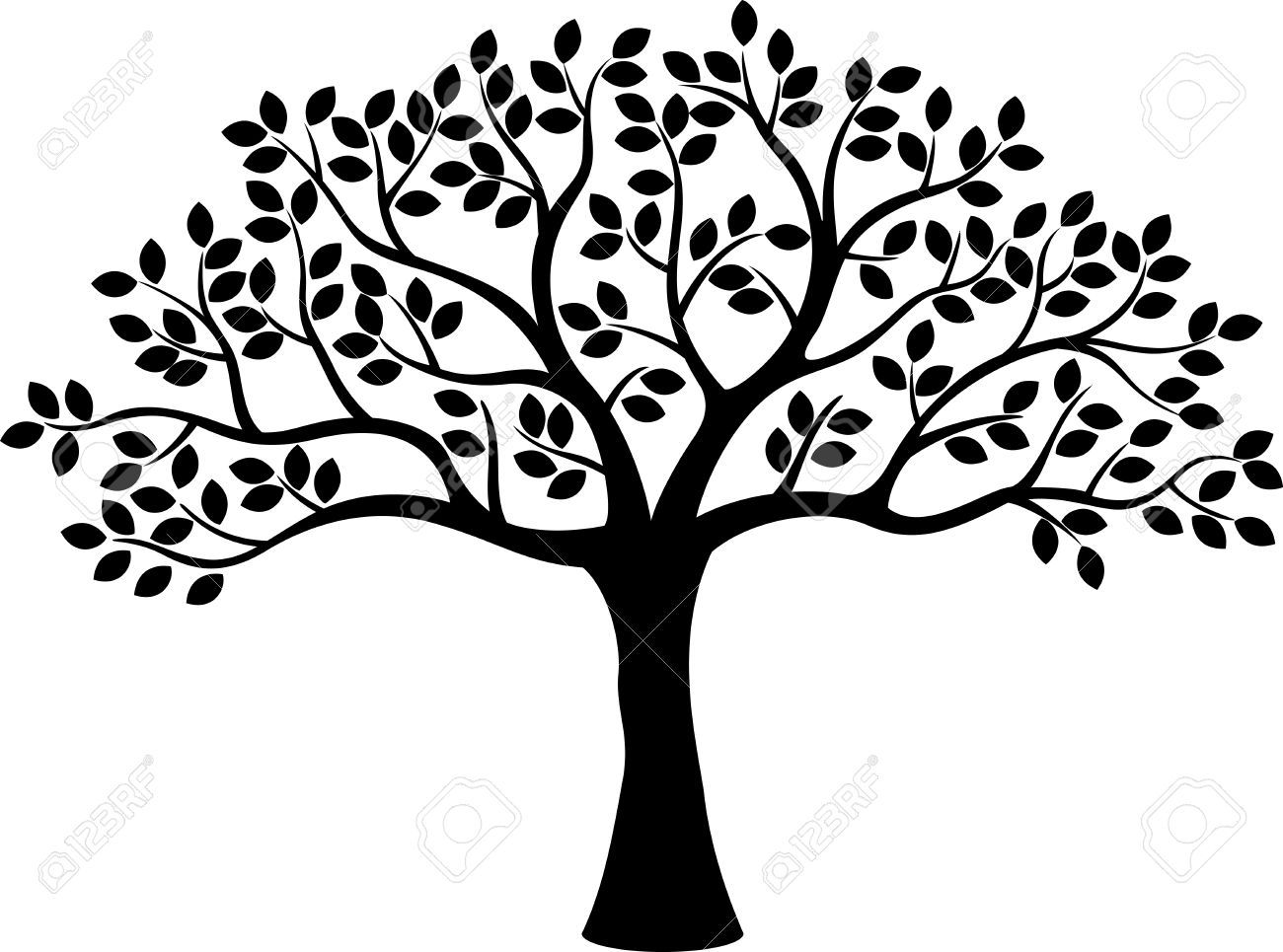 1300x965 30329270 Tree Silhouette Stock Vector Tree Life Family.jpg (1300