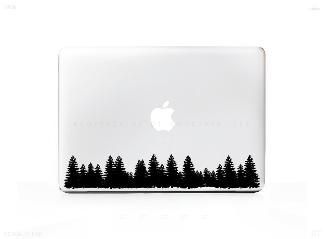 1138x837 Arborist Forest Tree Line Sticker Decal For Macbook