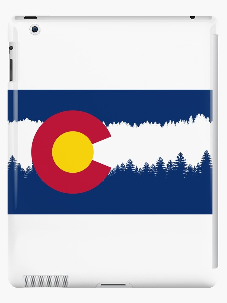 750x1000 Colorado Flag Treeline Silhouette Ipad Cases Amp Skins By