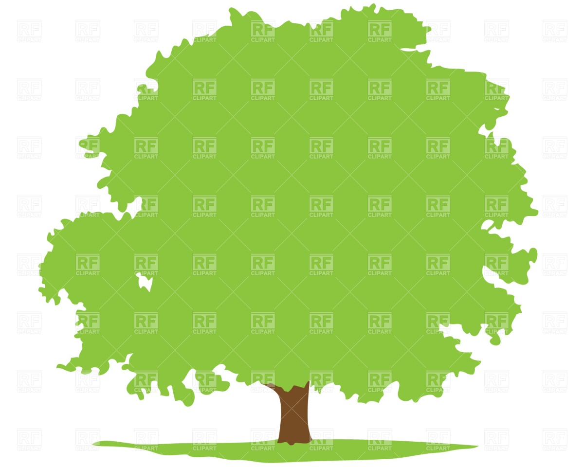1200x960 Deciduous Tree Silhouette Royalty Free Vector Clip Art Image