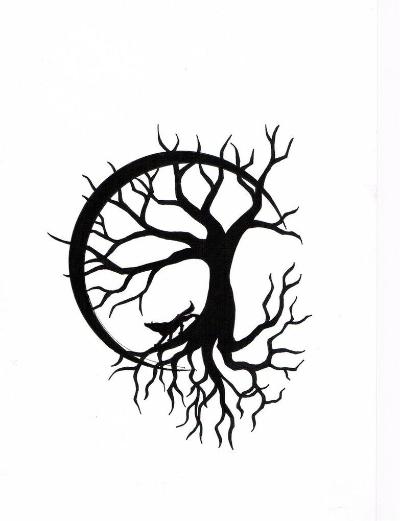 783x1020 Tree Of Life With Wolf Design By Calamitymoon
