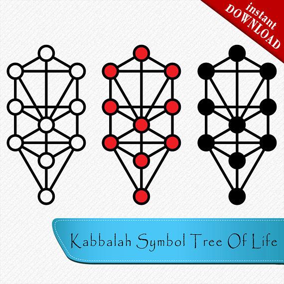 570x570 Kabbalah Symbol Tree Of Life Svg, Tree Of Life Silhouette, Alchemy