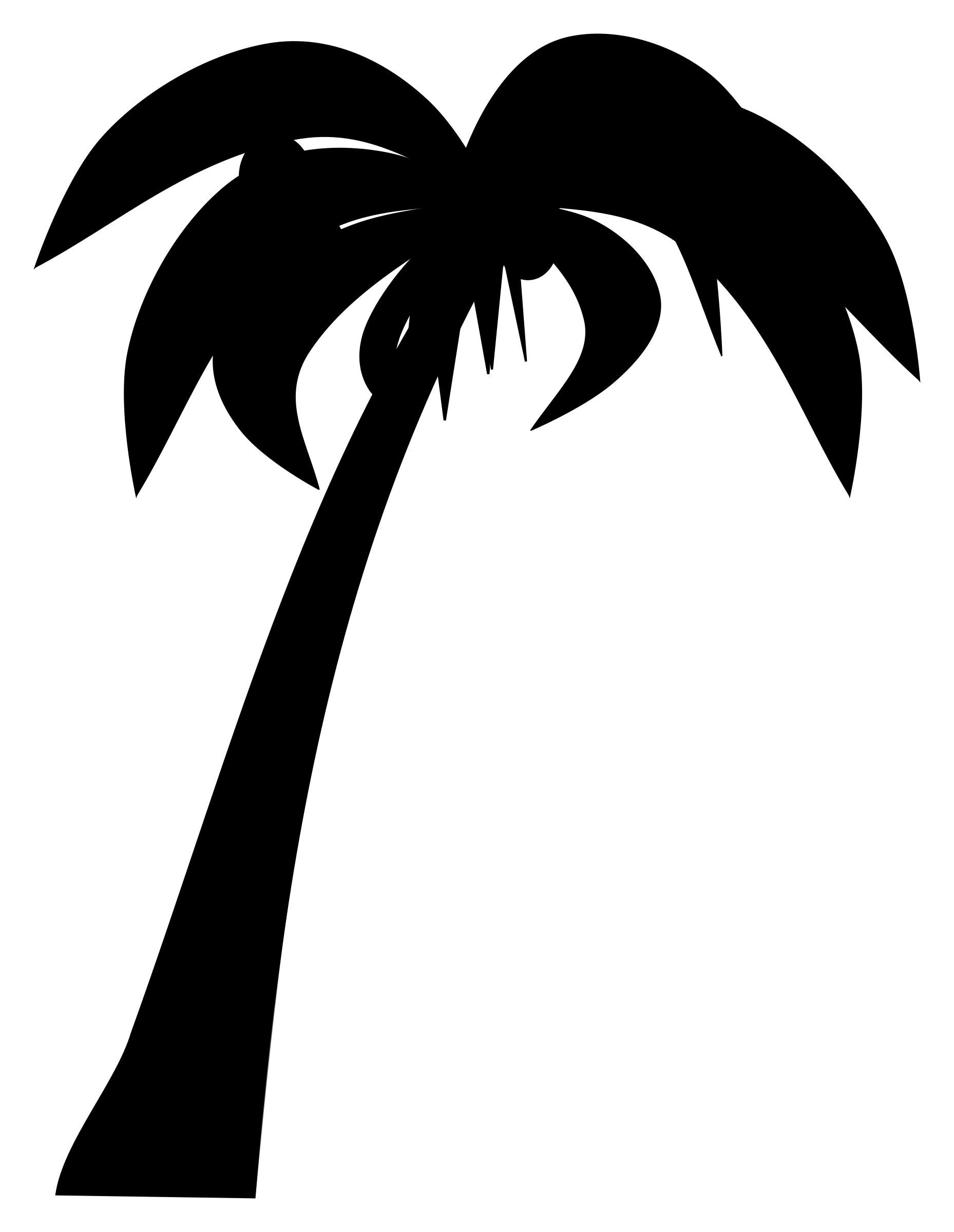 1858x2400 Palm Or Coconut Tree Silhouette Icons Png