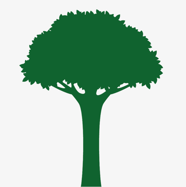 650x651 A Green Tree Silhouette, Green, Sketch, Tree Png Image And Clipart