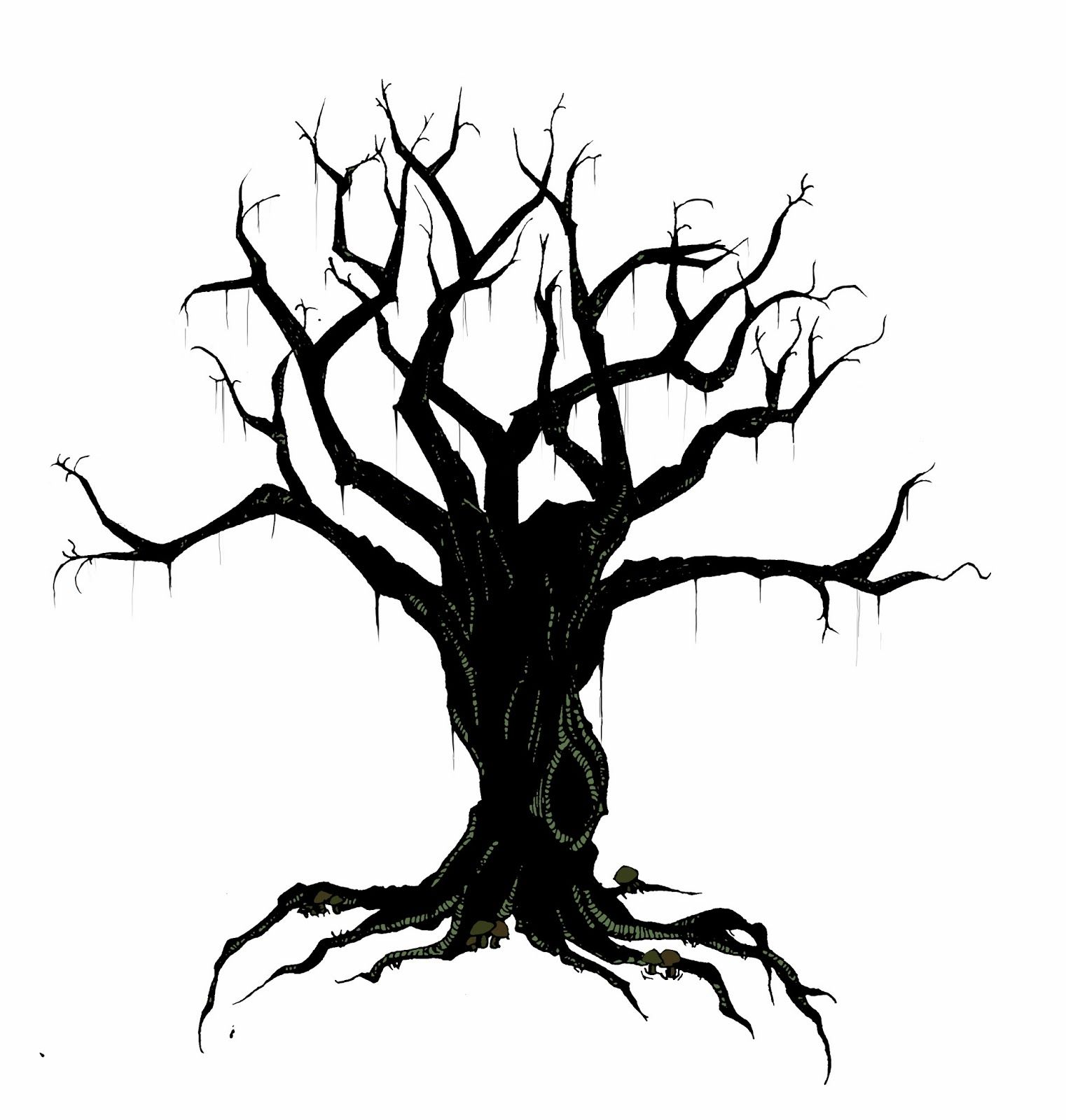1522x1600 Creepy Bird In Tree Silhouette Creepy Tree Minimal