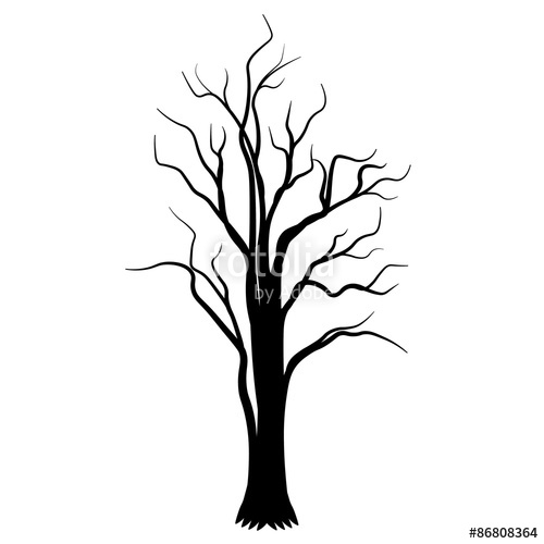 500x500 The Roots Tree Black Tatoo Silhouette Vector Illustration