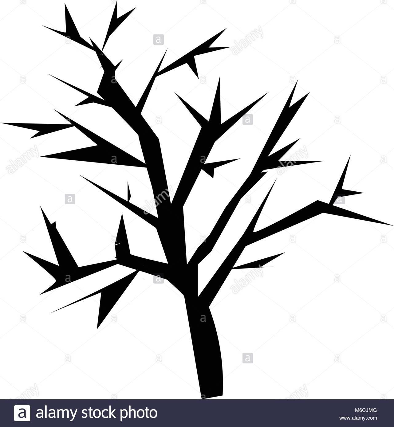 1282x1390 Mesquite Tree Silhouette On White Background Stock Vector Art