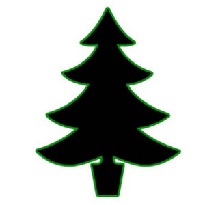 300x300 Silhouette Clipart Picture Of A Christmas Tree