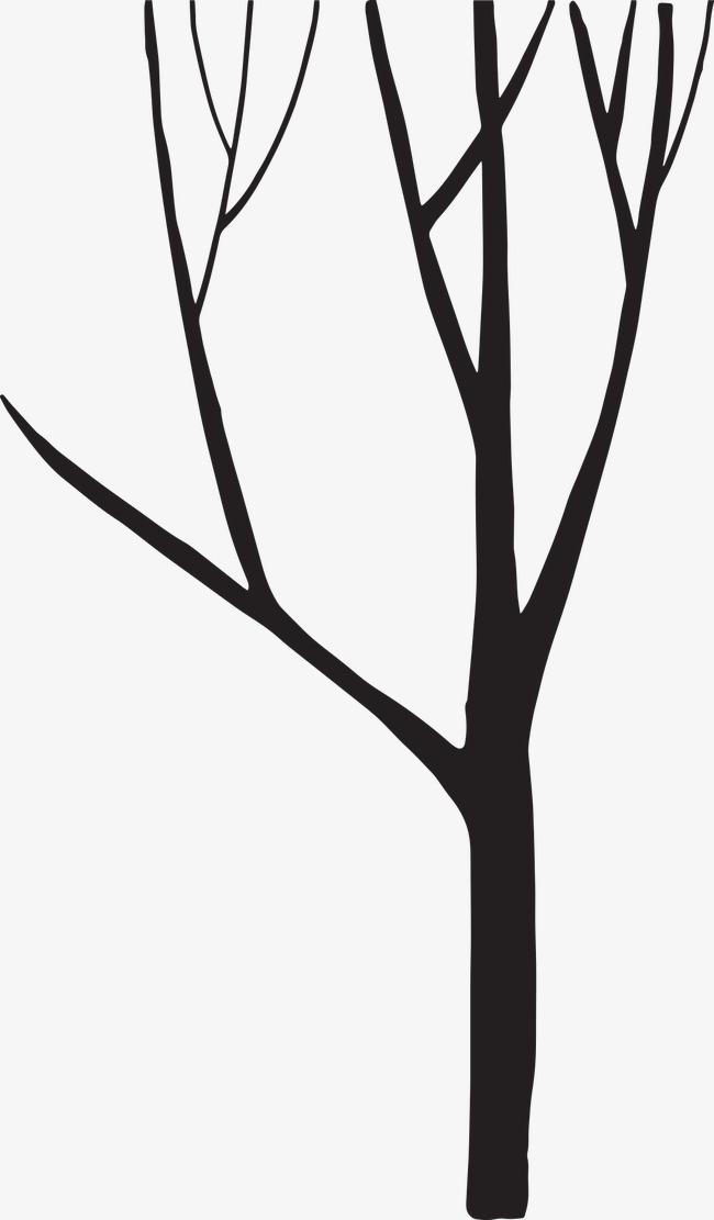650x1111 Tree Silhouette, Black And White, Watercolor, Trees Silhouette Png