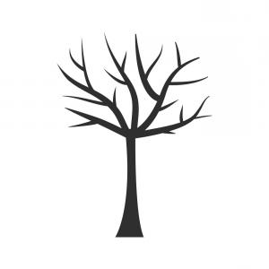300x300 Vector Tree Branches Silhouette Black White Shopatcloth