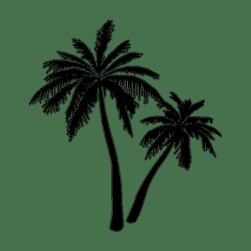 512x512 Black Palm Tree Silhouette