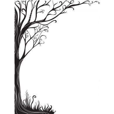 Tree Silhouette Border At Getdrawings Com