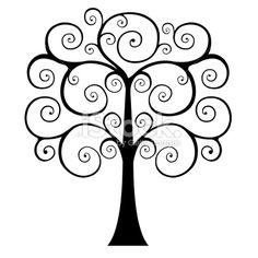 236x236 Swirly Tree Clip Art Swirly Tree Silhouette Clipart 1