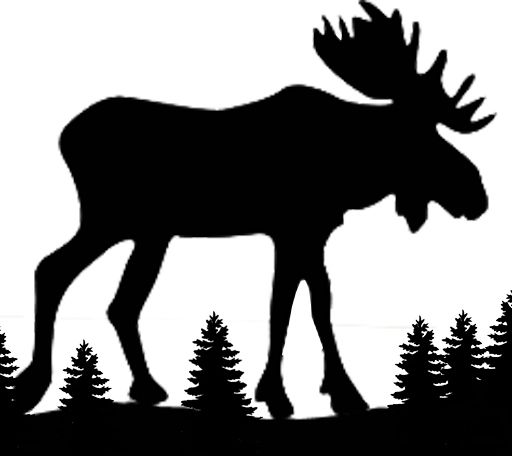512x456 Gallery For Gt Coyote Silhouette Cut Out Art Moose