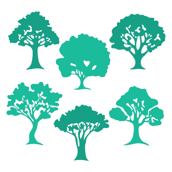 600x600 Old Tree Silhouette Cuttable Design Cut File. Vector, Clipart