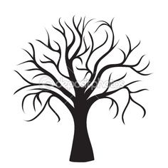 236x236 Tree Silhouettes Photoshop Brushes ~~ Our Tree Silhouettes
