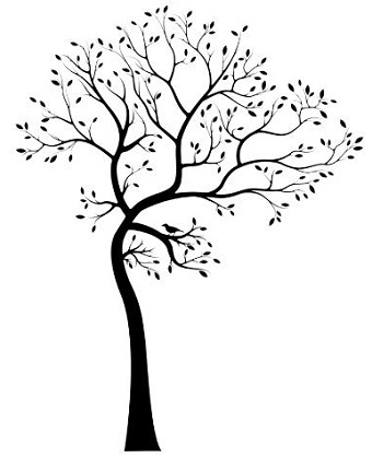 340x419 Large Tree Silhouette Wall Decal Brings The Beauty Of Nature