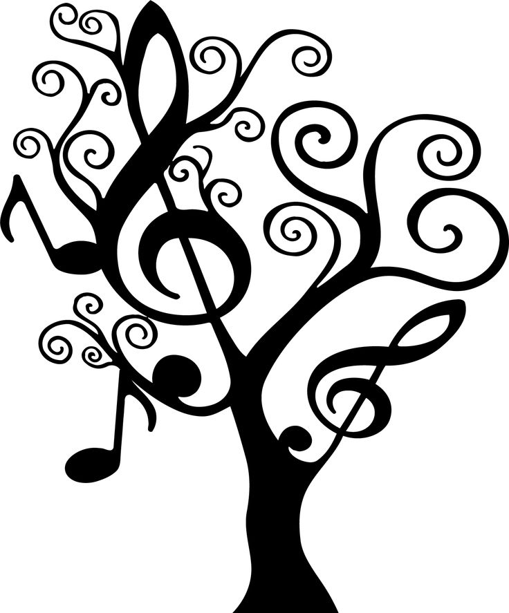 736x887 Music Note Tree Silhouette Silhouette's Tree