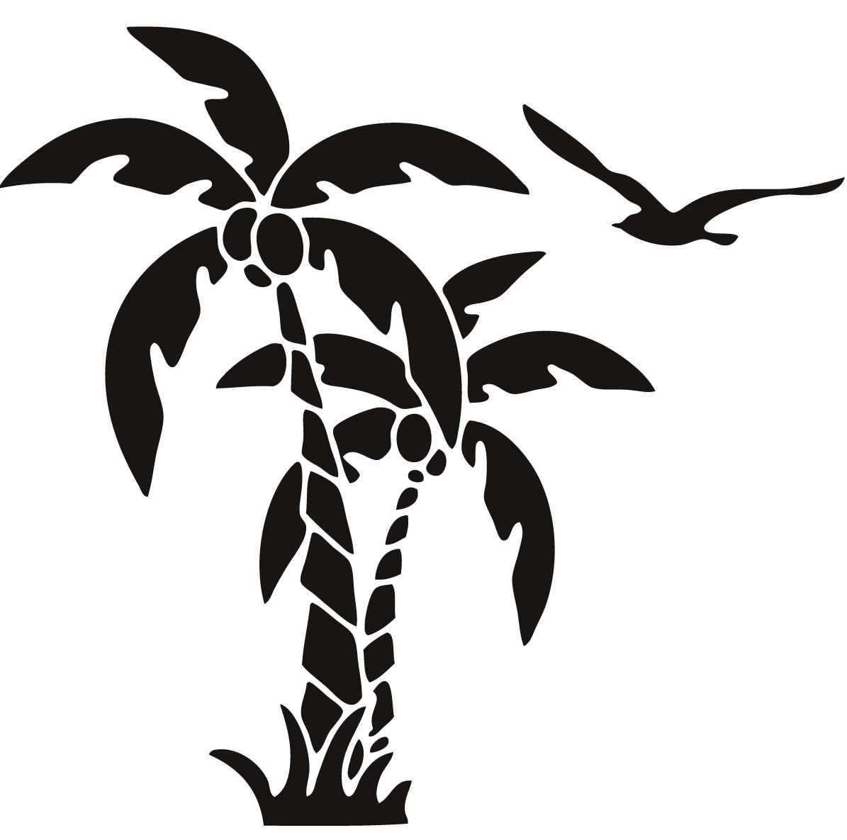 1195x1185 Palm Tree Scal Svg Palm Trees Palm, Silhouettes