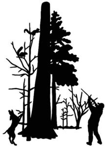 215x300 Squirrel Hunting Decal