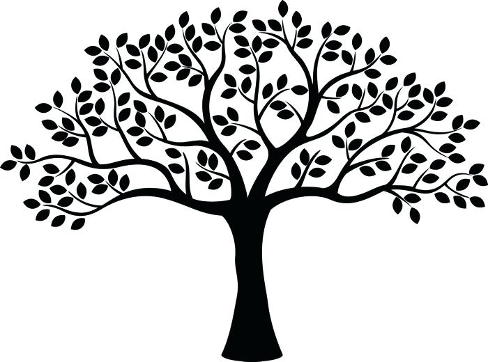 700x520 Tree Silhouette Wall Decal And Tree Silhouette Sticker Wall Decals
