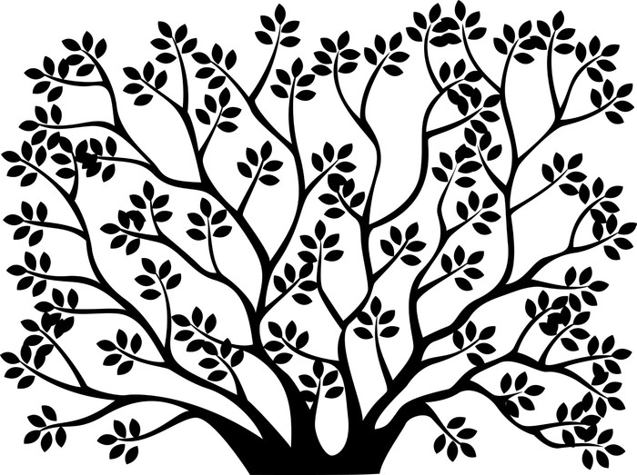 700x523 Tree Silhouette Wall Decal We Live To Change