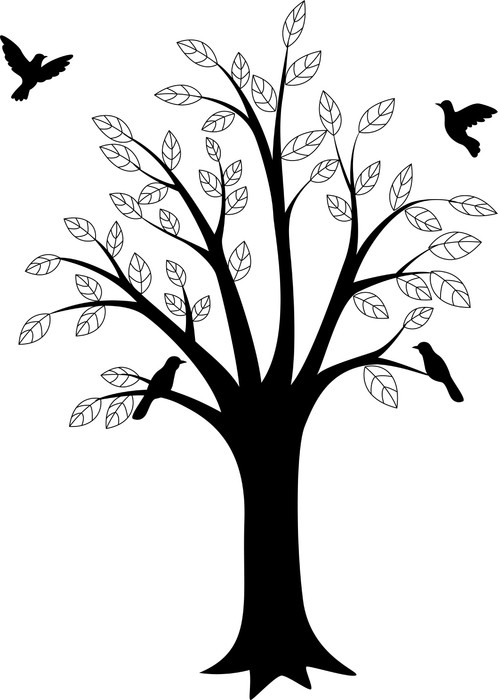 498x700 Tree Silhouette And Bird Wall Decal We Live To Change