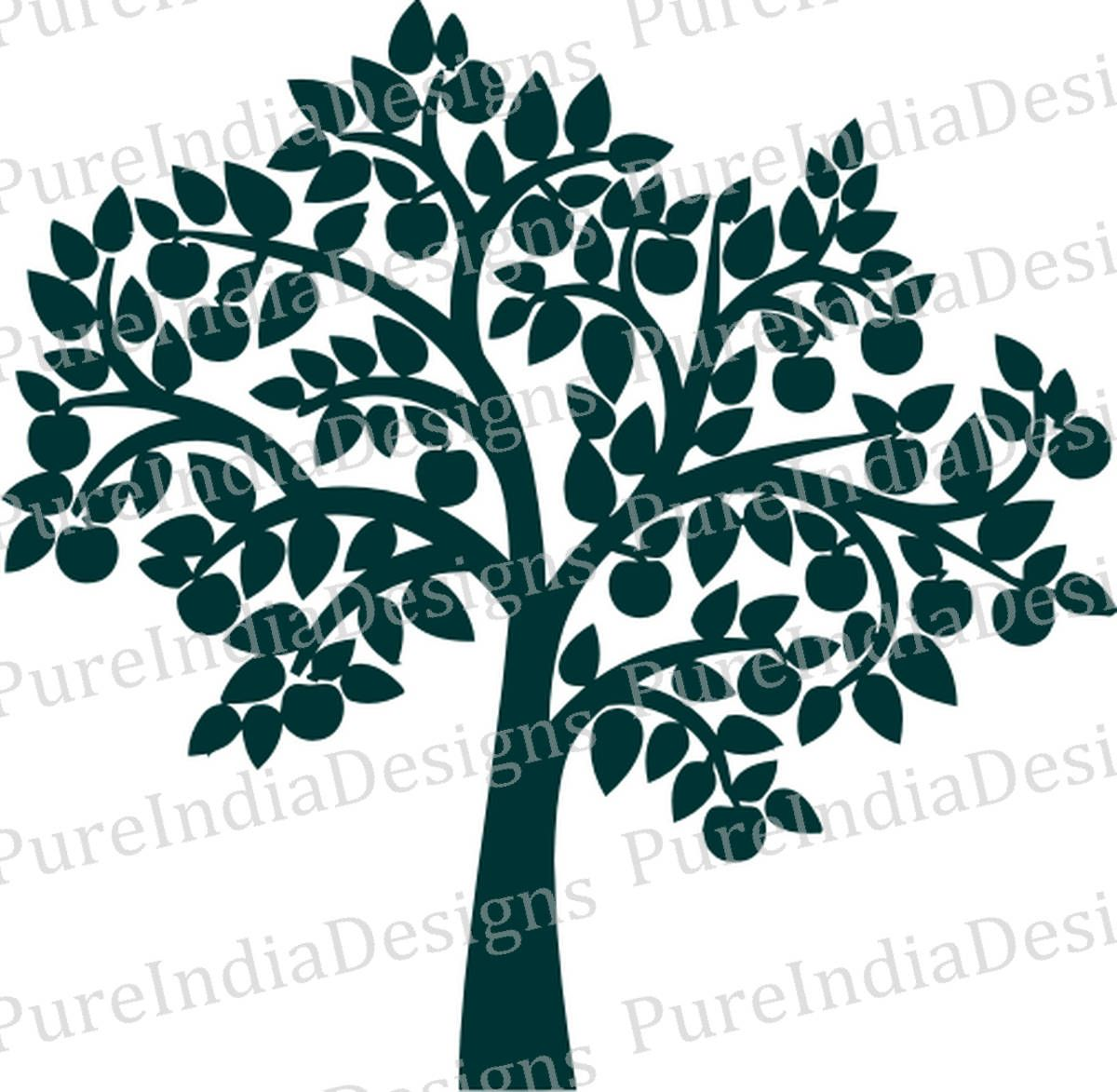1200x1173 Apple Tree Svg, Tree Wall Decal, Tree Digital File, Family Tree