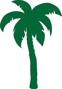 209x300 Window Wall Car Display Retro Palm Tree Silhouette Decal Vinyl