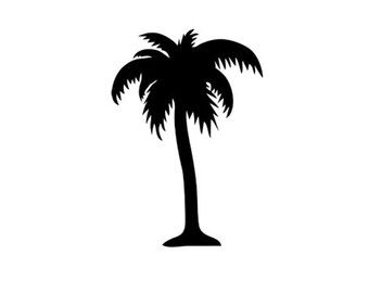 340x270 Palm Tree Decal Silhouette Svg Dxf File Instant Download