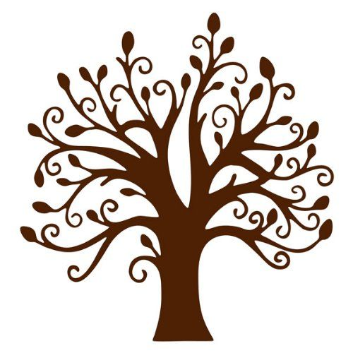 500x500 Chocolate Brown Tree Vinyl Wall Sticker Decal 22amazonhome