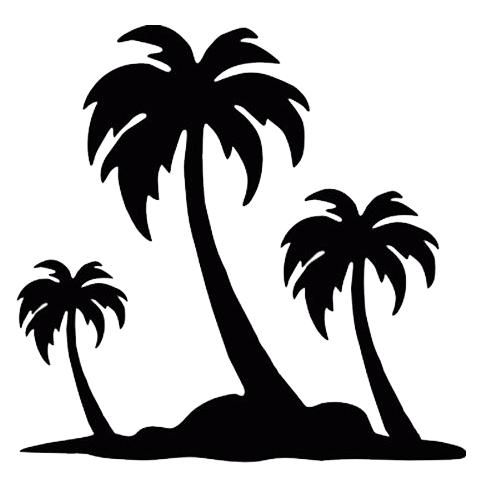 500x500 Palm Trees Die Cut Vinyl Decal Pv844 Cricut, Silhouettes
