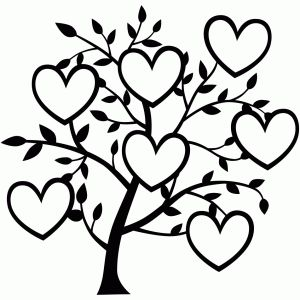 300x300 7 Heart Family Tree Silhouette Design, Family Trees And Silhouette