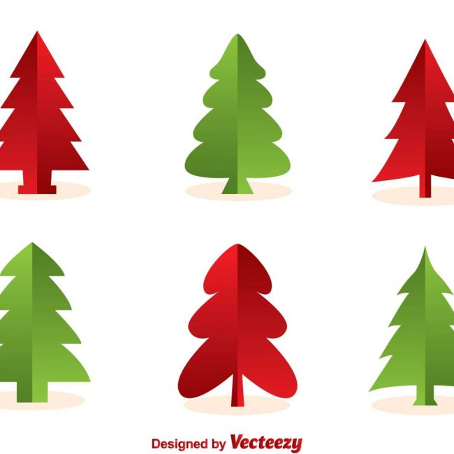 650x650 Free Vector Christmas Tree Silhouette Vectors