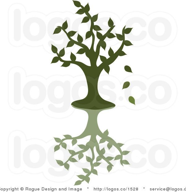 600x620 Royalty Free Vector Logo Icon Of Green Tree Silhouette Dropping