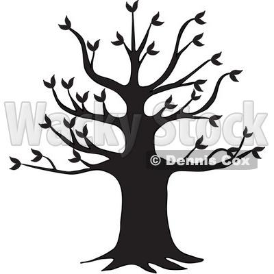400x400 Black Tree Silhouette
