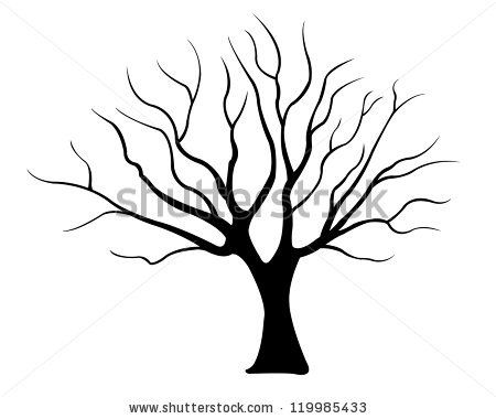 450x380 Drawn Dead Tree Silhouette