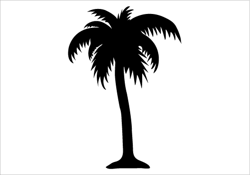 501x351 Palm Tree Silhouette Clipart Library