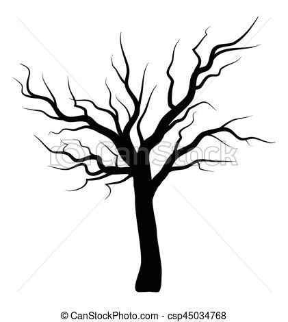421x470 Bare Tree Silhouette Vector Symbol Icon Design. Beautiful Clip