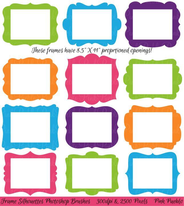 643x721 8.5 x 11 Frames Photoshop Brushes – PinkPueblo